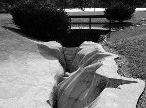 Il modello della diga realizzato a Nove (Vittorio Veneto) per conto del professor Ghetti